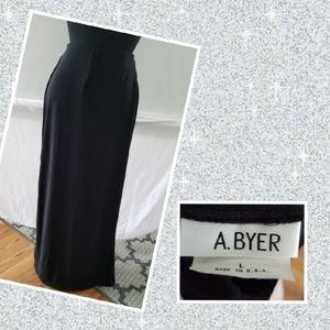 A. Byer maxi black skirt/slits on both sides large